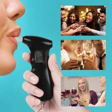 Mini LCD Display Digital Protable Breathalyzer Professional Police Breath Alcohol Tester(China)