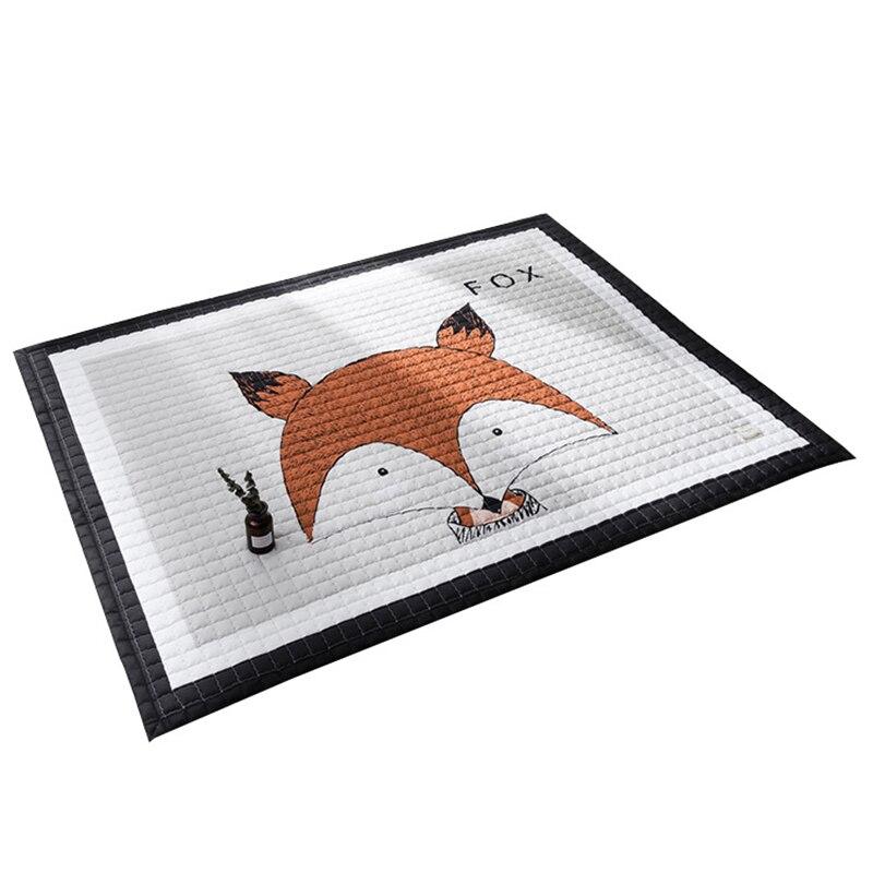 145x195 cm cuisine tapis de sol salon tapis tapis pique-nique couverture chambre chambre tapis dessin animé Animal Simple mignon ramper