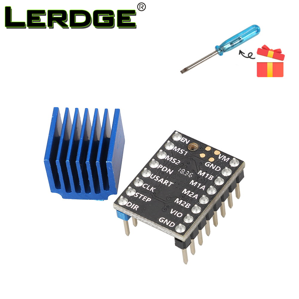 Lerdge Tmc2208 Stepper Motor Driver 3D Printer Components Stepstick Tremendous Silent With New Warmth Sinks Present 1.4A Peak Present 2A