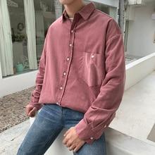 2019 Korean Style Mens New Clothes mens fashion Shirts casual slim fit Long sleeve Roses Color Coats shirt men Free shipping