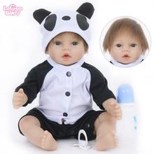 Logeo Baby 55cm Soft Vinyl Reborn Doll Princess Bebes Dolls Toys Lifelike Newborn Panda lol doll Children Gifts