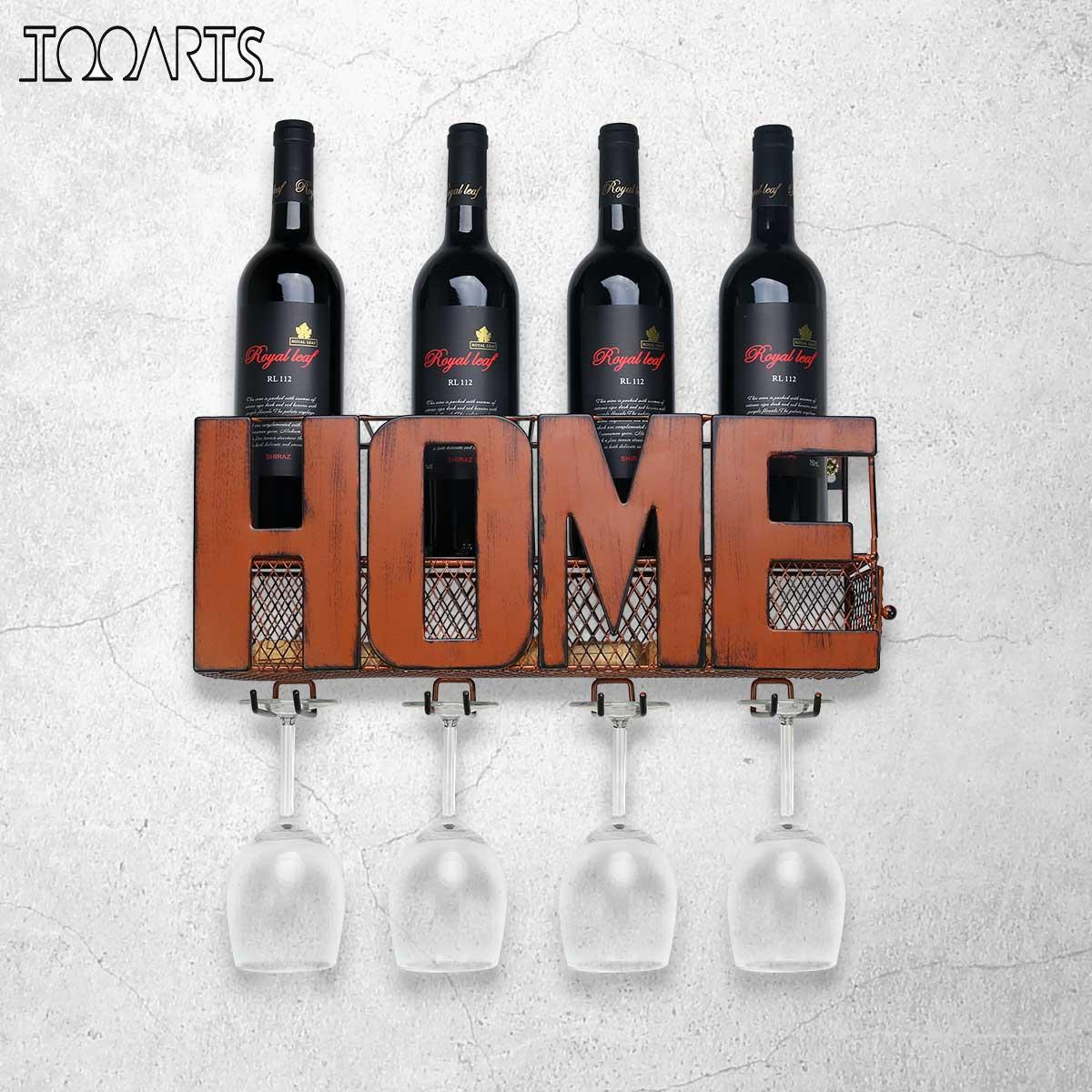 Wall Mounted Wine Rack Cork Storage Container Hanging Wine Glass Holder Wine Storage Rack Home Kitchen