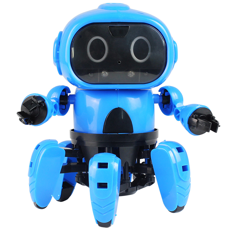 New Arrival Upgraded MoFun-963 DIY 6-Legged RC Robot Infrared Obstacle Avoidance Gesture Control Pro