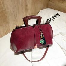 цены Women Oil Wax Leather Designer Handbags High Quality Shoulder Bags Ladies Handbags Luxury Brand Leather Women Bags bag handbag