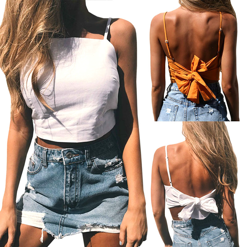 2019 Fashion Casual Cami Women Boho   Tank     Tops   Bustier Bra Vest Crop   Top   Shirt Bralette Blouse Fashion Sleeveless   Tops