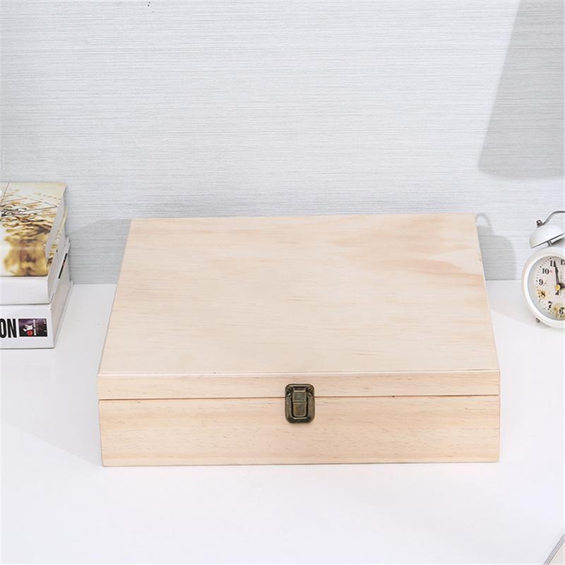 Большая емкость 48 слот эфирное масло деревянный ящик для хранения Органайзер Чехол Органайзер для ароматерапии легкий дисплей подарки Компактный