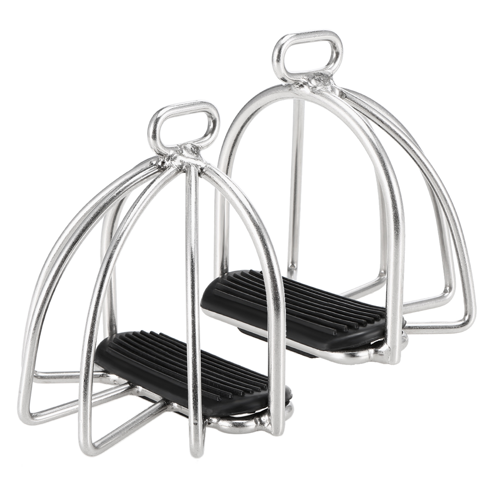 Image 3 - 2 PCS Cage Horse Riding Stirrups Flex Steel Horse Saddle Anti skid Horse Pedal Equestrian Safety Equipment-in Horse Care Products from Sports & Entertainment