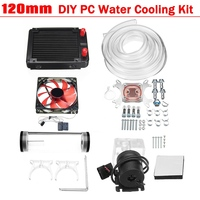 Leory Universal 120mm DIY PC Water Cooling Kit Water Row+CPU Water Cooling System Computers Radiator Pump Reservoir Heat Sink