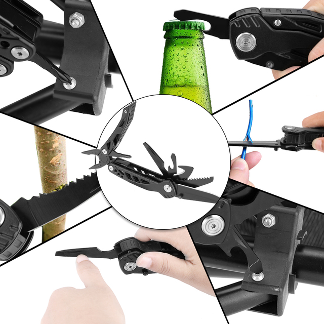 Swiss Multi Tool With Belt Holder. Large Yet Slim, Ergonomic to Carry & Hard Wearing, Essentials Include, Pliers, Screwdrivers, Wire Cutters, Tin & Bottle Opener