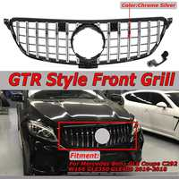GTR GT R Style Car Front Grille Grill Cover For Mercedes For Benz GLE For Coupe C292 W166 GLE350 GLE400 2016 2018 Chrome / Black