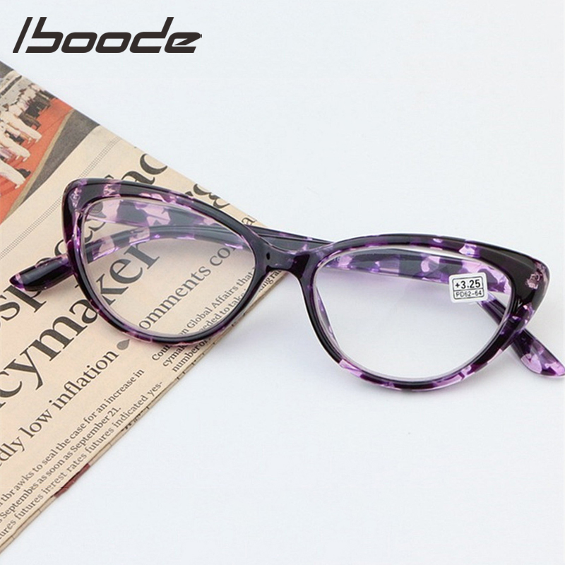 Iboode Cat Eye Reading Glasses Women Eyeglasses Presbyopic 1.0 1.25 1.5 1.75 2.0 2.25 2.5 2.75 3.0 3.25 3.5 3.75 4.0 Men Eyewear