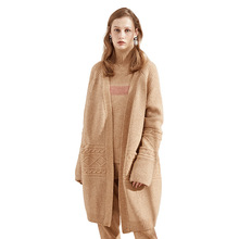 Vicugna velvet long cardigan 2018 autumn and winter new Euramerican loose all-mathch sweater womens coat 8139