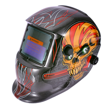 Auto Darkening Welding Helmet 320x210x230mm Welding Helmet Solar Auto Darkening Welder Mask Grinding Hood Cap & 2 Baffle Mayitr недорого