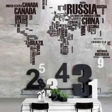Практичный дизайн дома гостиная ПВХ стикер на стену Съемная карта мира с буквенным принтом спальня Искусство DIY настенные декоративные наклейки s
