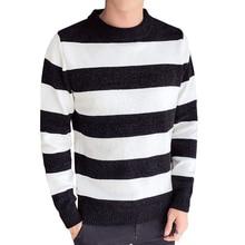 цены на Autumn And Winter New Pattern Round Neck Pullover Stripe Fashion Unlined Upper Garment Male men sweaters Free shipping  в интернет-магазинах