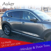 Car Window Trim Door Body Side Trim Strips Garnish Exterior Chrome Decorative Car styling for 2017 2018 Mazda CX 5 CX5 KF