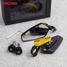 Motorcycle 22mm handlebar side rearview mirrors Universal For YAMAHA bws 125 fz6s ys tdm 850 forcex t-max 530 etc.