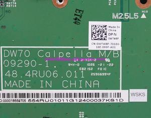 Image 5 - Echtes WTW8F 0WTW8F CN 0WTW8F 09290 1 48.4RU06.011 Laptop Motherboard Mainboard für Dell Vostro 3700 V3700 Notebook PC