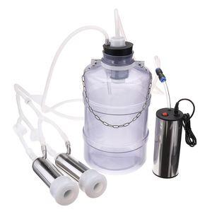 Image 5 - Ordeñadora eléctrica de 24W para ovejas y cabras, bomba de vacío Dual, cubo, nivel de seguridad alimentaria, ordeñadoras de plástico
