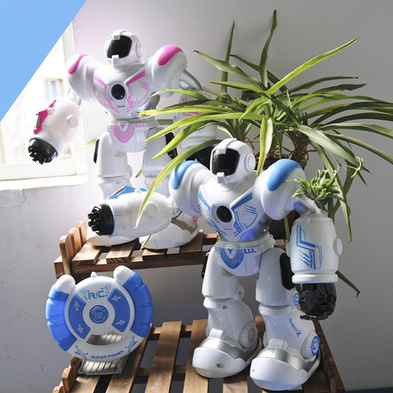 Image 3 - Early Childhood Education Intelligent Electric Remote Control Robot LED Light Singing Dancing Full Presentation RC Robot Toy-in RC Robot from Toys & Hobbies