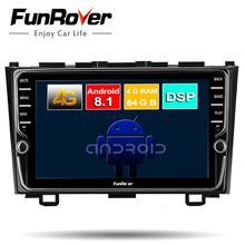 Funrover Восьмиядерный Android 8,1 2 din автомобильный dvd мультимедийный плеер для Honda CRV 2006-2011 Автомобильный Радио gps навигация navi DSP 4G 64G