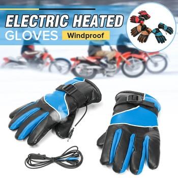 Пара 12 V мотоцикл велосипед зимние теплые перчатки с подогревом Водонепроницаемый модные лыжные перчатки для работы на открытом воздухе дл... >> Alidubuy Trading Co., Ltd.