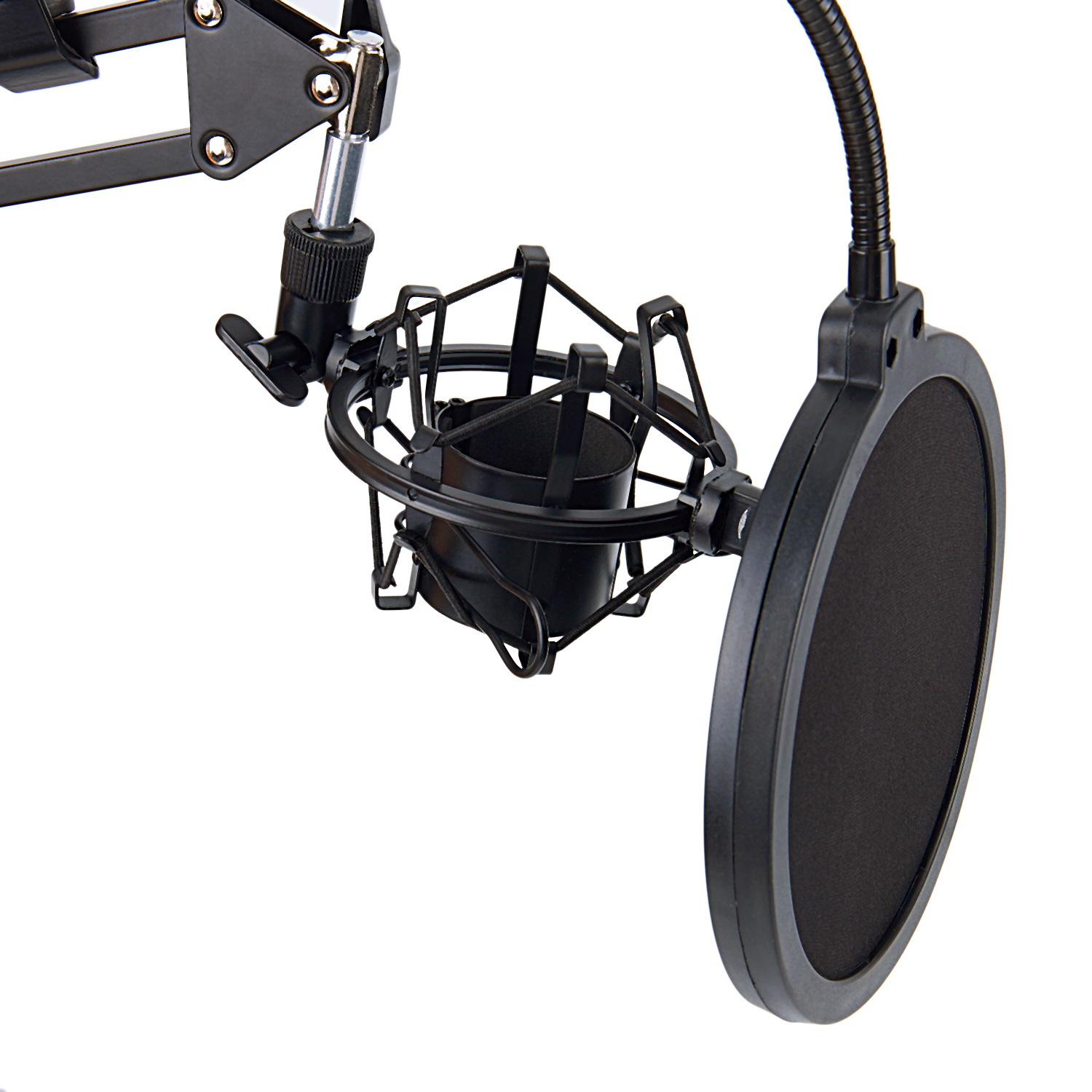 NB-35 Microphone Scissor Arm Stand and Table Mounting Clamp&NW Filter Windscreen Shield & Metal Mount Kit 3