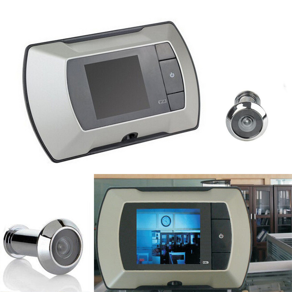 New Mini 2.4 Inch Digital Door Camera Doorbell LCD Screen 100 Degree Peephole Viewer Camera Eye Video Record Outdoor Door Bell