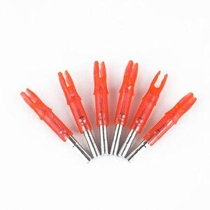 Image 4 - 6 шт./лот, автоматически ABS 44*6,2 мм, светодиодная светящаяся стрела, подходит для стрельбы из лука, охоты, аксессуары для стрельбы, 4 цвета