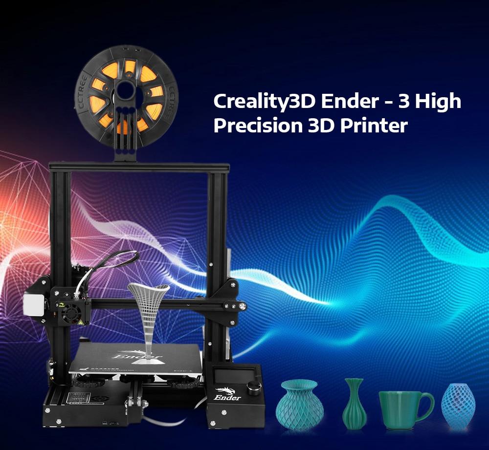 Creality3D Ender-3 di Alta Precisione 3D Stampante Kit FAI DA TE Telaio In Acciaio Display LCD 180 mm/s Stampante Riscaldamento Veloce