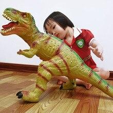 88 см Suprt Большой Парк Юрского периода Тиранозавр Рекс, динозавры модель игрушки с животными из ПВХ хлопок фигурку для детей Подарки