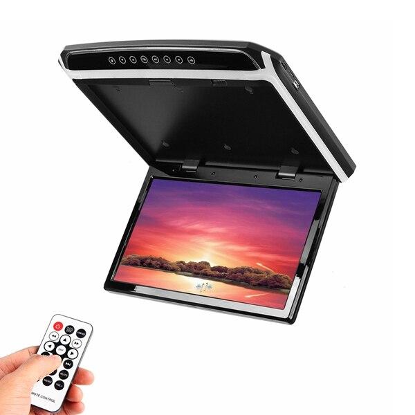 Reproductor de DVD de pantalla ancha HD de 15,6 pulgadas para coche, reproductor de montaje en techo de coche HDMI abatible hacia abajo para Monitor 1920*1080 - 2
