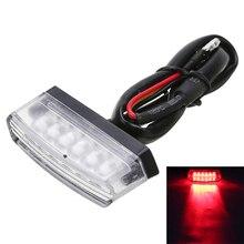 Новое поступление 1 шт. красный мини мотоцикл свет 6LED задний номер номерные знаки для мотоциклов Хвост свет лампы прозрачные линзы