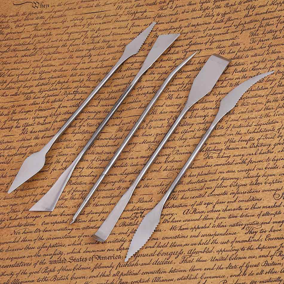 Top Quality  5Pcs Stainless Steel Sculpting Tools Wax Clay Pottery Carving Modeling Sculpture DIY Craft Art Ceramic Tool Set