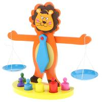 Forma de leão balança empilhamento triagem jogo montessori aprendizagem precoce brinquedos sensoriais educativos presente para crianças      -