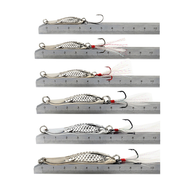 Kingdom Hot Metal Spoon For Fishing Lures 1PC Double Hole Spoon Artificial Baits High Quality Hard Bait Fishing Tackle 2