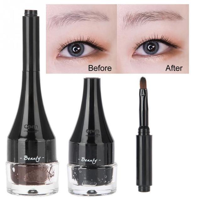 b92f8cf6987 3D Eyebrow Fiber Gel Extension Cream Waterproof Broken Short Shallow Eyebrow  Modification Eyelash Extension Enhancer Brow Makeup