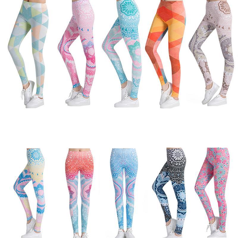 Printed Slim Women Fitness Sports Pants Yoga Pants Gym Strong Elastic Women's Yoga Leggings Yoga Pants Sports Accessory