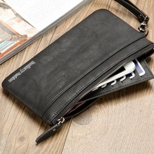 цены на Wallet Long Wallet Men And Women Zipper Wallet Handbag Youth Retro Multi-Function Clutch  в интернет-магазинах