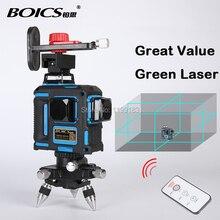 Бесплатная доставка Boics 12 линий 8V4H лазерной линии перекрестный лазерный поворотный лазерный уровень-уровень выравнивания лазер с инфракрасный пульт дистанционного управления