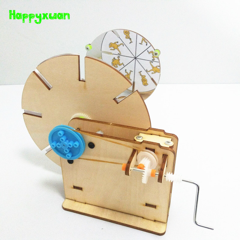Happyxuan DIY Cartoon Presenter Technology Invention Science Toys Kids Physical Optics Experiment Kits School Project Education