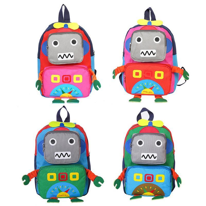 Childrens School Backpack Bag Cartoon Cute Backpack For Kindergarten 1-5 Years Old Girl Boy Girls Travel Backpacks Robot BagsChildrens School Backpack Bag Cartoon Cute Backpack For Kindergarten 1-5 Years Old Girl Boy Girls Travel Backpacks Robot Bags
