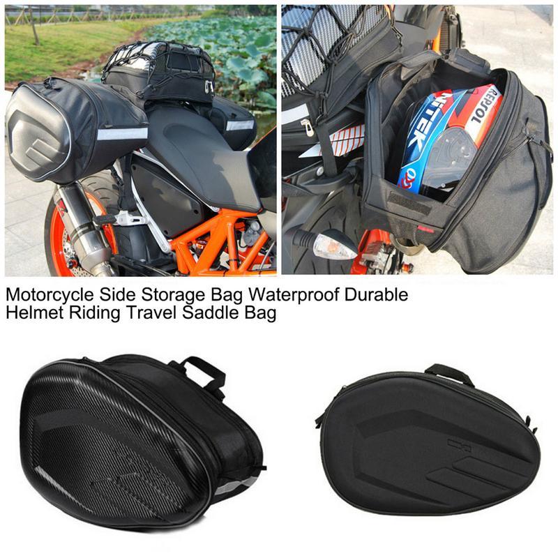 Motorcycle Side Storage Bag Waterproof Durable Helmet Riding Travel Saddle BagMotorcycle Side Storage Bag Waterproof Durable Helmet Riding Travel Saddle Bag