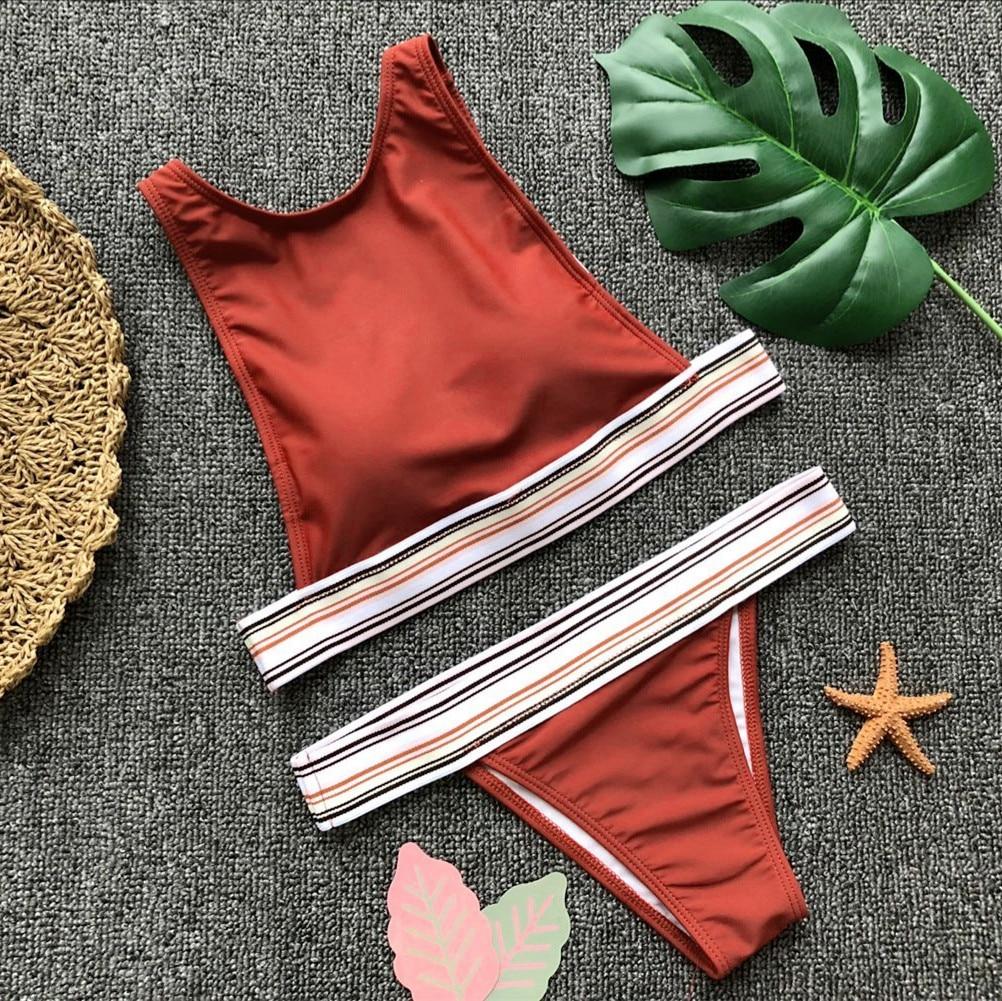 Womens Padded Push-up Bikini Set Hot 2018 Velvet Beach Swimsuit Bathing Suit Swimwear Beachwear