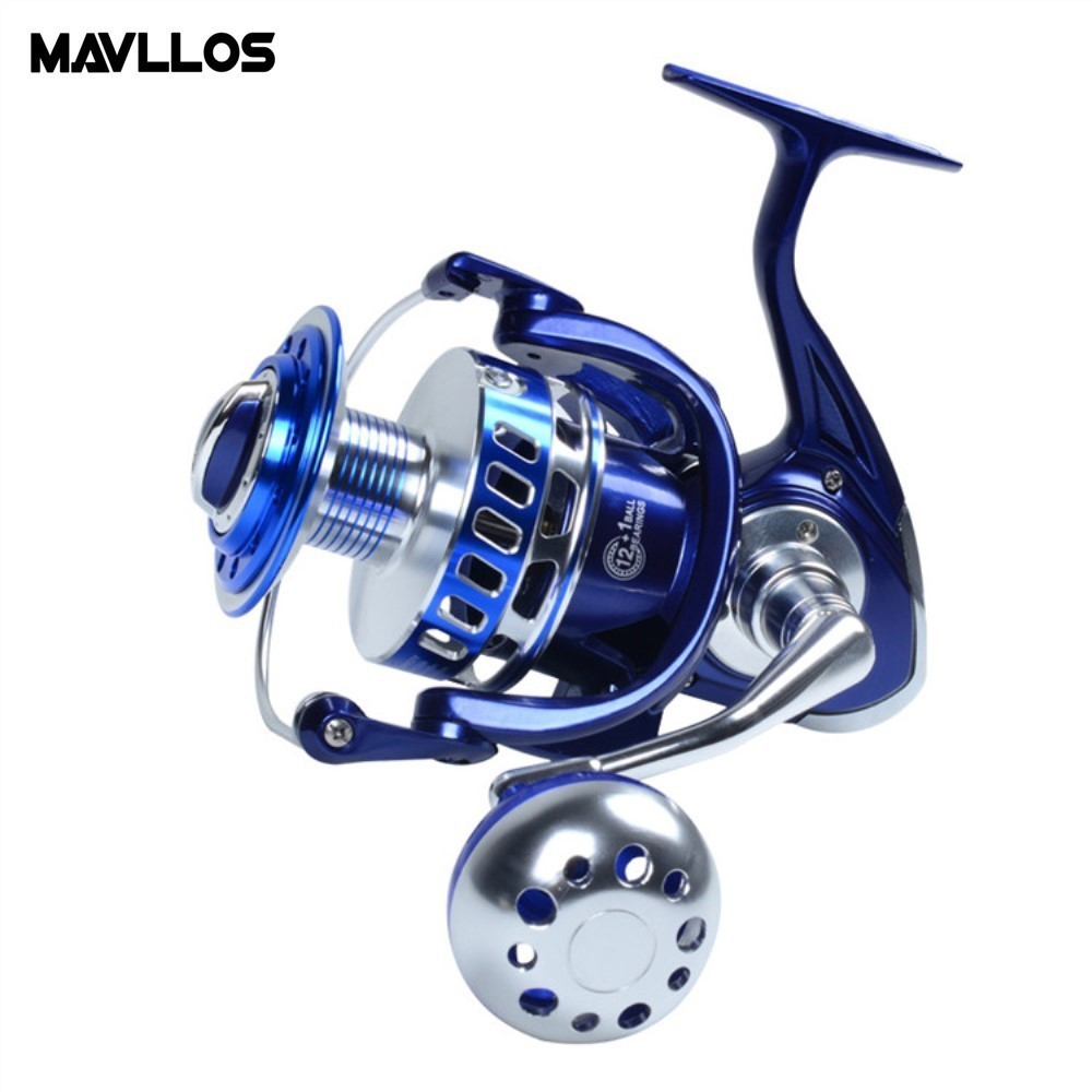 Mavllos Ratio 5.5:1/4.7:1 Sea Bass Surf Fishing Jigging Reel 6000 7000 9000 Model 13BB Anti Corrosion Saltwater Fishing Reel haibo professional saltwater spinning fishing reel 5000 6000 7000 8000 9000 7bb 4 9 1 surf casting reel trolling jigging wheel