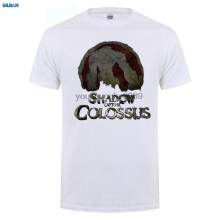 GILDAN  New Men'S T-Shirts Short Sleeve Print Tee Shirts Men's T Shirt Unique Shadow Of The Colossus Blackcrazy t-shirts цена в Москве и Питере