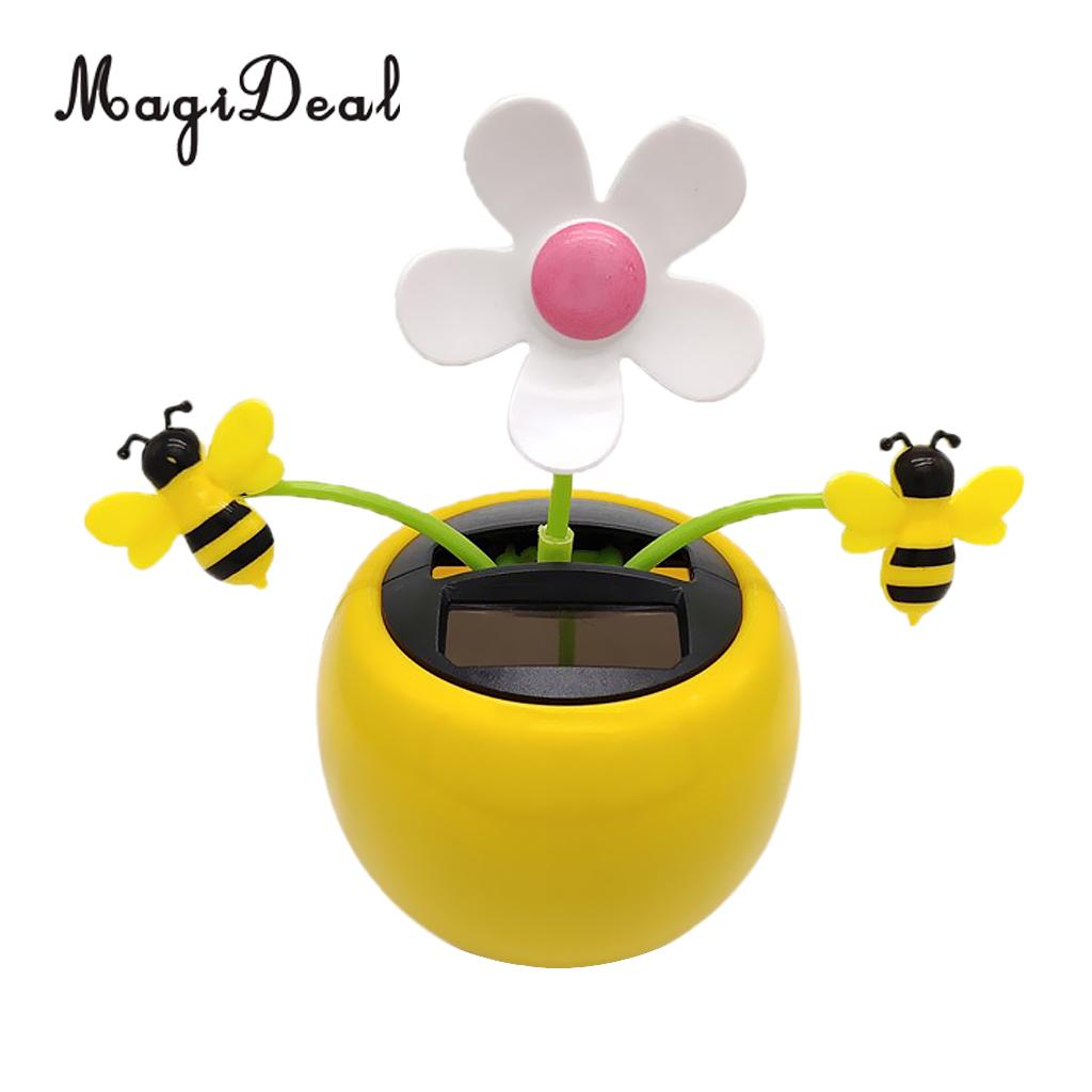 Toy Dancing-Doll Solar-Powered Flowerpot Insect Honey Bee Car-Ornament Home-Decor And