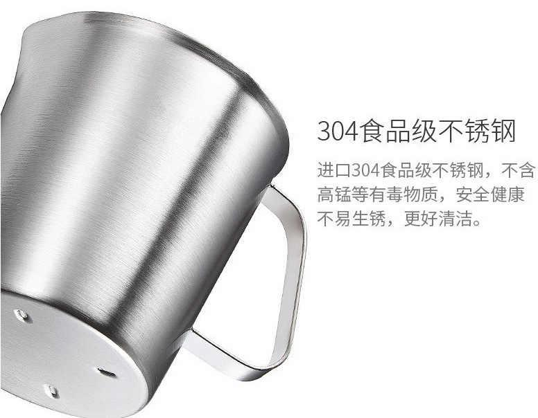 Novo diy vela que faz a mão conjunto de ferramentas 304 copo aço inoxidável pote cera chocolates derreter contendo marca grande 2000 ml escala interna