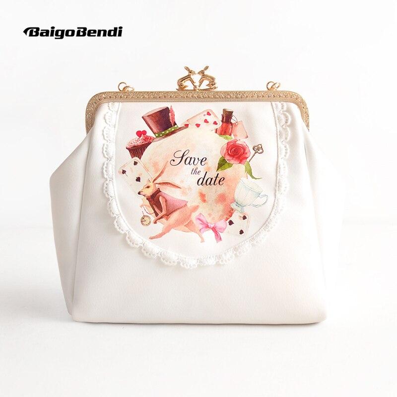 Nouveau sac à la mode femme chaîne belle lapin épaule Messenger petit sac cadre fermoir embrayage filles cadeau