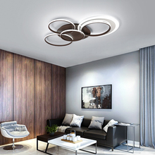 modern LED ceiling chandeliers for living room bedroom plafonnier led brown aluminum acrylic chandelier lighting fixtures